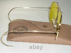 1960's 62MM B&L ray ban 24K Gep Kalichrome Cristal SHOOTING AVIATOR Lunettes