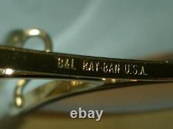 1980's 62mm Vintage B&L RAY-BAN Cable-Wraps Ambermatic Grand AVIATOR Lunettes