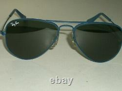 52 14mm Bausch & Lomb ray ban Flying Colors Bleu G15 AVIATOR Lunettes With Étui