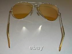 58-14 Vintage Bausch &lomb Ray-Ban Gep Tout Temps Ambermatic AVIATOR Lunettes