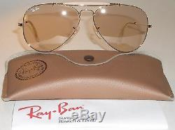 58mm B&L Ray Ban Arista Gp Marron Photochromique Outdoorsman Aviator Soleil Neuf