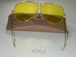 597ms 62MM B&L ray ban 24K Gep Kalichrome Cristal SHOOTING AVIATOR Lunettes