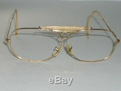 64mm Vintage B&L Ray Ban or Decot Tir Aviator Lunettes Cadres