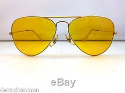 70's B&L Ray Ban Ambermatic 58mm Aviator Large Metal & Case
