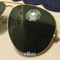 B&L RAY-BAN LARGE METAL II G-15 6214 Aviator Bausch&Lomb USA Vintage Arista 2