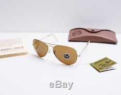 B&l Ray Ban Aviator B15 Sunglasses Vintage New Old Stock