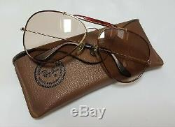 Bausch and Lomb Ray Ban Aviator Outdoorsman Tortuga Changeable 6214 1980'S
