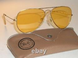 Circa 1960s 58MM Bausch & Lomb ray ban Changeables Ambermatic AVIATOR Lunettes