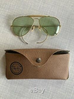 Gorgeous Vintage Ray-Ban Aviator Outdoorsman Bausch & lomb Sz58 With Temple Cables