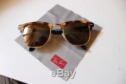 Lot de deux paires solaires Ray-Ban Clubmaster & Police (type aviator)