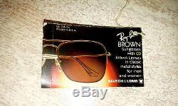 Lunettes Solaire RAY-BAN Aviator Bullet Hole shooter B&L Bausch&Lomb VINTAGE