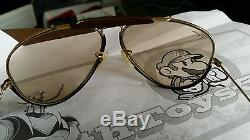 Lunettes de soleil RAY BAN VINTAGE BAUCH AND LOMB AVIATOR LEATHER BROWN marron