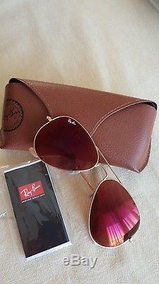Lunettes ray ban aviator flash lenses