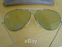 Lunettes solaires RAY BAN sunglasses BAUSCH & LOMB shooter aviator Changeables