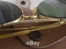 Ray-ban 10k Gold Filled 62mm Aviator Sunglasses Vintage With Case