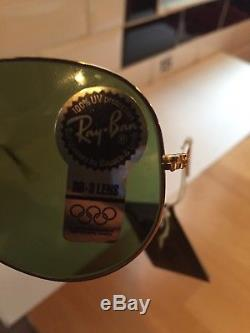RAY BAN AVIATOR BAUSCH AND LOMB NOS 58mm NEW OLD STOCK