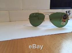 RAY BAN AVIATOR BAUSCH AND LOMB NOS 58mm NEW OLD STOCK L0556