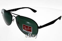 RAY BAN New Aviator Noir mat ultra légère Taille L Mixte Indice 3 Verres Verts