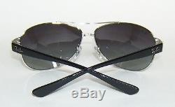RAY BAN RB 3386 003/8G SILVER AVIATOR WRAP SUNGLASSES 67 mm LARGE