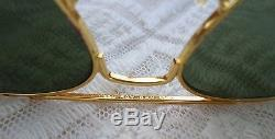 RETRO VINTAGE BAUSCH & LOMB USA RAY BAN AVIATOR SUNGLASSES SHADES 56mm