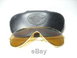 Rare Vintage Sunglasses Bausch&lomb Wings Lunettes Occhiali Aviator