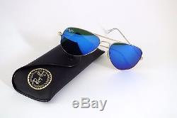 Ray Ban Aviator 3025 112/17 gold matt/blau verspiegelt 58 mm