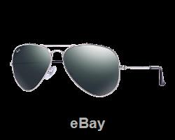 Ray-Ban Aviator Large Argent G15-XLT Miroir RB3025 W3277 58