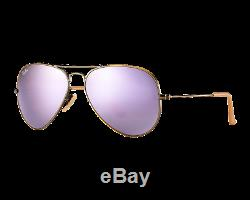 Ray-Ban Aviator Large Flash Cuivre/Lilas Miroité RB3025 167/4K 58