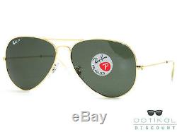 Ray Ban RB3025 001/58 62 POLARIZED lunettes de soleil AVIATOR neuf