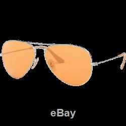 Ray-Ban RB3025 Aviator Evolve Argenté Orange Photochromique RB3025 9065/V9