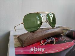 Ray Ban USA Golden Aviator Vintage Bausch Lomb 62 14 5.9 Inches Width