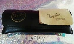 Ray Ban Vintage W0976 Classic 1 Ovale Aviator Plaqué Or 24 K B & L Rayban