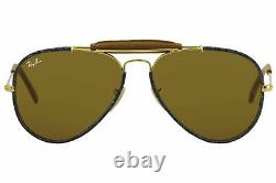 Ray ban Tech Aviator Craft RB3422Q 9192/33 58 Or/Marron Rayban Lunettes