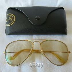 Rayban Ray Ban USA B&L solaires sunglasses aviator Luxottica 56/16 golfilled