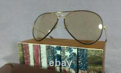 °Sunglasses Ray-Ban B&L Aviator 62-14 Leathers L9977 Brown changeables 80s
