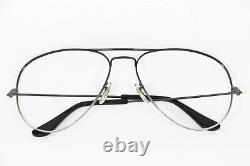 USA B&L Ray-Ban Vintage Lunettes Rare Aviator 62-16 XL Anthracite Gris