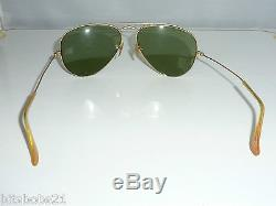 VINTAGE AVIATOR RAY BAN B&L BAUSCH LOMB USA SUNGLASSES With CASE 1970's
