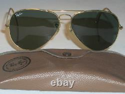 Vintage B&L Bausch & Lomb ray ban G15 UV Verre Or AVIATOR Lunettes de Soleil