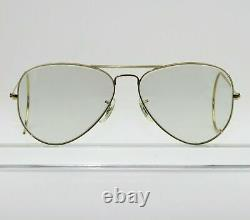 Vintage B&L ray ban Gep Gris Ton Changeables Wrap-Arounds AVIATOR Lunettes
