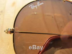 Vintage Ray Ban B&L The General Leathers Changeables Aviator Sunglasses