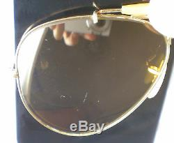 Vintage Ray Ban B&L USA AMBERMATIC AVIATOR OUTDOORSMAN Sunglasses gold 58 lens