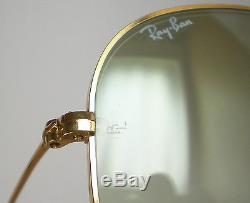 Vintage Ray Ban B&L USA FANTASEES AVIATOR Sunglasses green gradient changeables