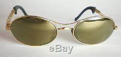 Vintage Ray Ban B&L USA ORBS GOLD MIRRORED Sunglasses oval aviator wrap round