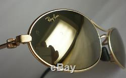 05df760bdc Vintage Ray Ban B L USA ORBS GOLD MIRRORED Sunglasses oval aviator wrap  round