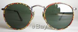 Vintage Ray Ban B&L USA ROUND MARBLED Sunglasses john lennon gold gatsby aviator