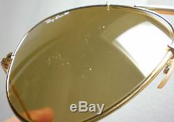 Vintage Ray Ban B&L USA THE GENERAL AVIATOR Sunglasses RB50 gold mirrored