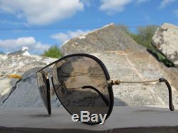 Vintage Ray Ban B&L U. S. A. Leathers Changeable Aviator Sunglasses