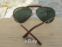 Vintage Ray Ban B&L U. S. A. Leathers ODM G15 Aviator Sunglasses