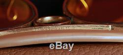 Vintage Ray Ban Bausch & Lomb AmberMatic Aviator Shooter 62 mm