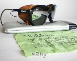 Vintage Ray Ban CATS 7000 GLACIER Sunglasses side shield leathers mirror aviator